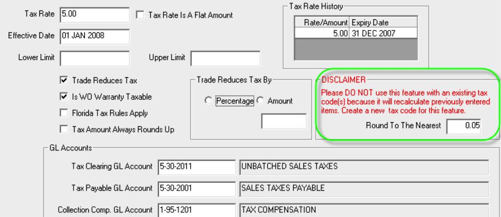 Accounting-Rounding Sales