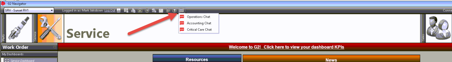 Chat Window Toolbar