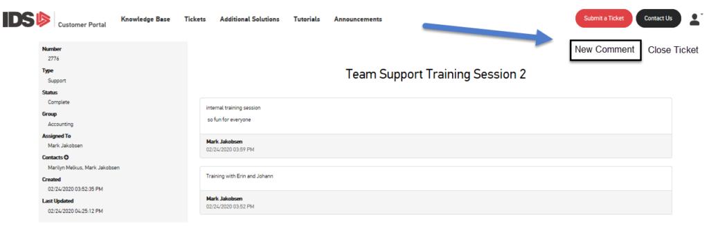 IDS Team Support Training