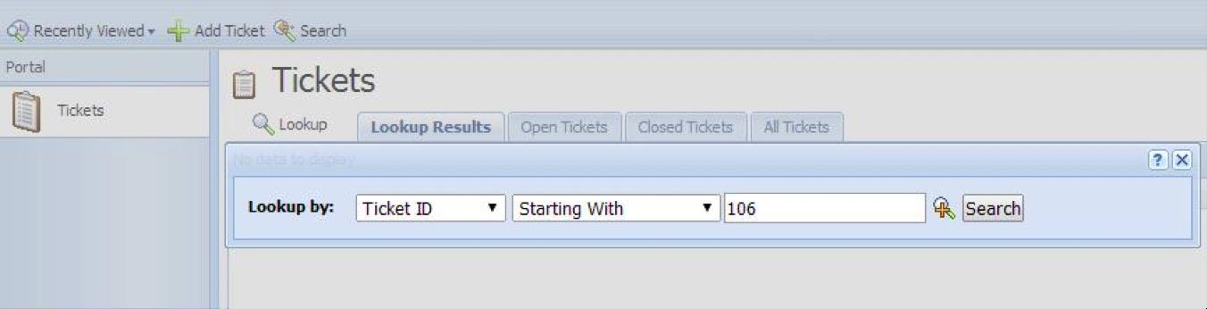 IDS Ticket Status
