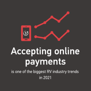 Accepting online payments is one of the biggest RV industry trends in 2021